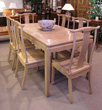 Rectangular ash table with 6 scholars chairs - Mandarin style